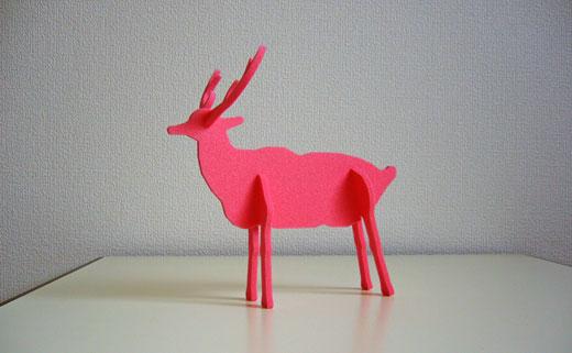 鹿の組み立てクラフト